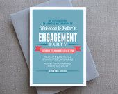 Engagement Party Invitation, Engagement invitations, Party Invitation, Custom, Printable, Made to Order