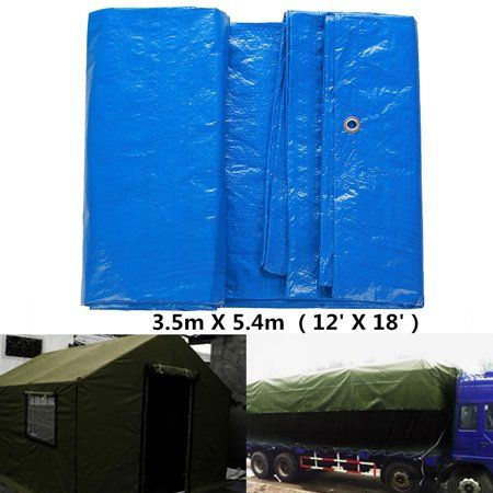 12/' X 18/' Multi Purpose Blue Poly Tarp Cover Tent Shelter RV Camping Tarpaulin