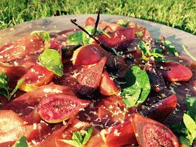 Everybody Loves an Italian: Autumn Bresaola with caramelised sweet red wine fig and apple.