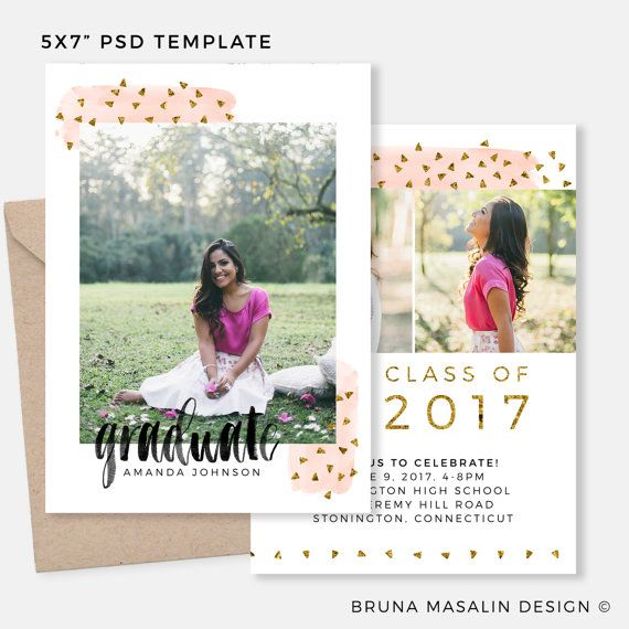 93 best Grad Announcement Design images on Pinterest Card - graduation announcement template