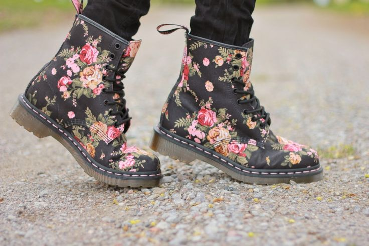 Is the Doctor in?!  These floral Dr. Martens are a must have!      Follow thePlatformYT