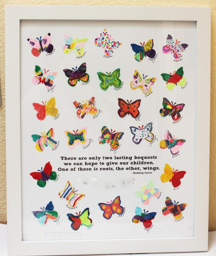 school auction art project, the white paper butterflies are from Etsy. Created the poster in PSE and printed on lustre photo paper at Costo. Attached the butterflies with double side tape. Each kid's name was written in fine tip Sharpie by their butterfly. Under the quote (but blurred out), you can add the teacher's name, school name, city and school year.