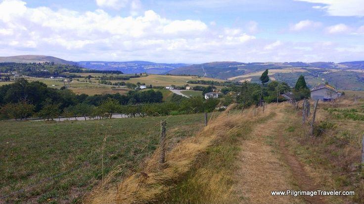 The easy path towards Castro, from Grandas de Salime, on day six of the Camino Primitivo.