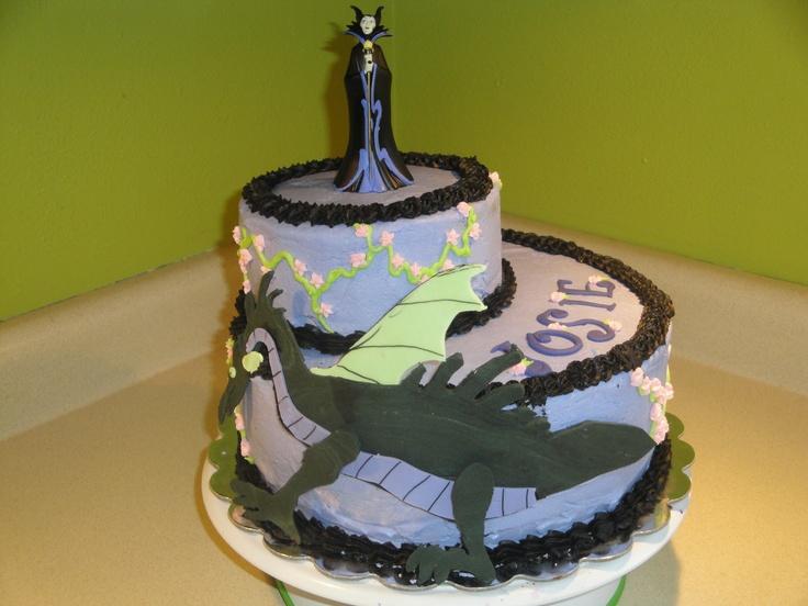 Josie's Maleficent birthday cake.