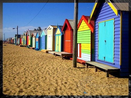 """colorful beach houses   ... COLOR CONTEST #13 - """"Colorful Buildings"""" in flickr…"""