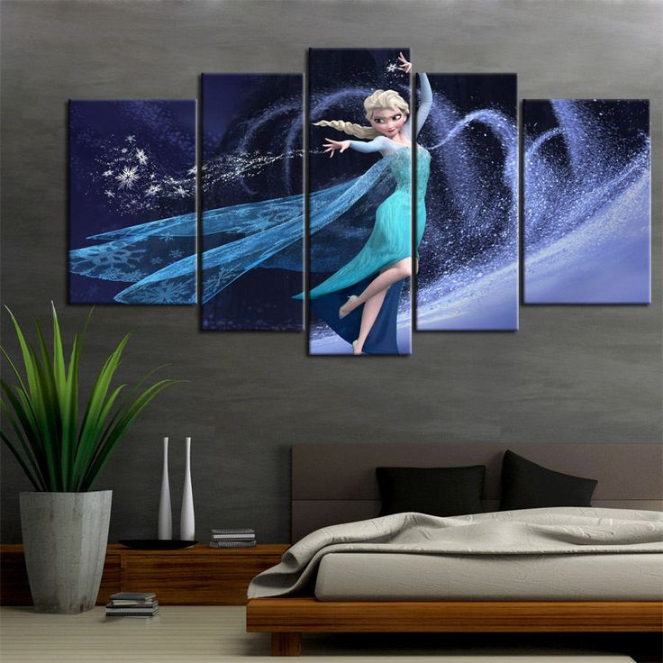 Canvas Print painting wall decor home art Disney Frozen Elsa cartoon (No Frame) #Canvas #Modernism