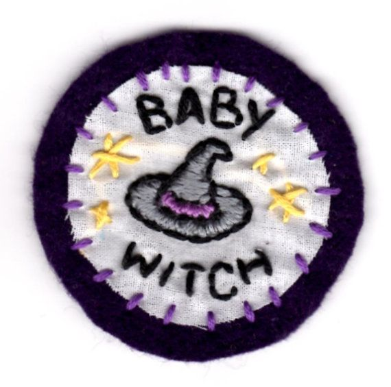 Baby Witch Embroidered Patch by mittenfingerz on Etsy