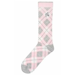 Light-Pink Heathered-Grey Argyle Men's Dress Socks - Argoz