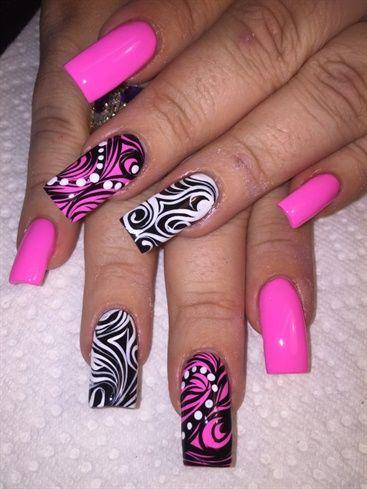 Bright And Out by AlysNails - Nail Art Gallery nailartgallery.nailsmag.com by Nails Magazine www.nailsmag.com #nailart