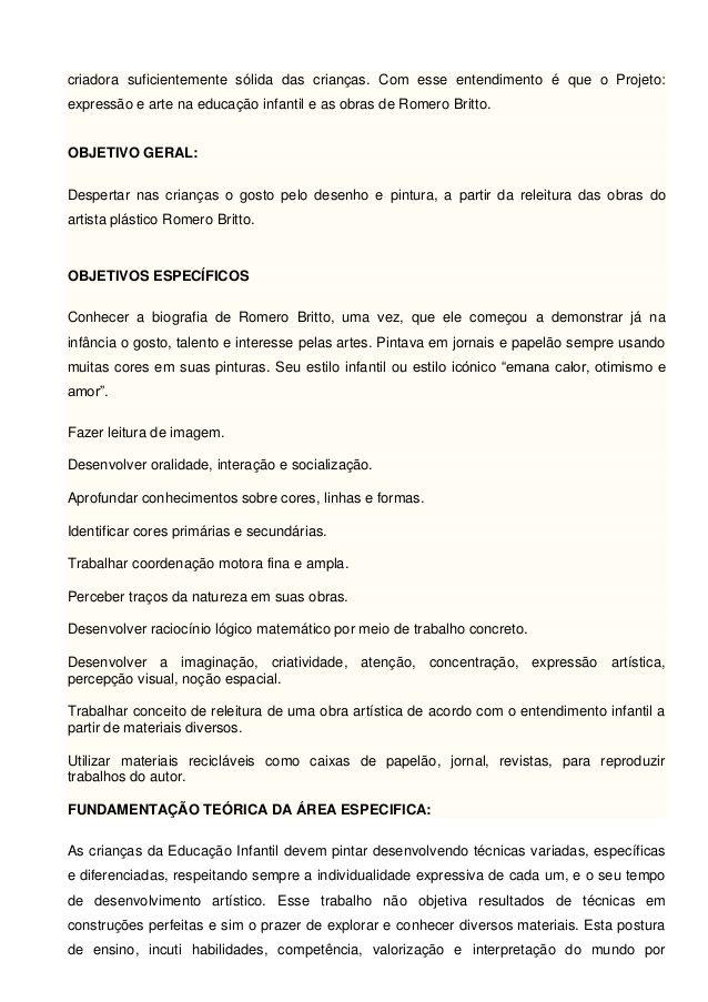 Atividade 3 Projeto De Artes Simone Helen Drumond Planejamento