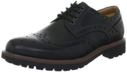 Oferta: 110€ Dto: -47%. Comprar Ofertas de Clarks Montacute Wing 203510927 - Zapatos de cordones de cuero para hombre, color negro, talla 46 barato. ¡Mira las ofertas!