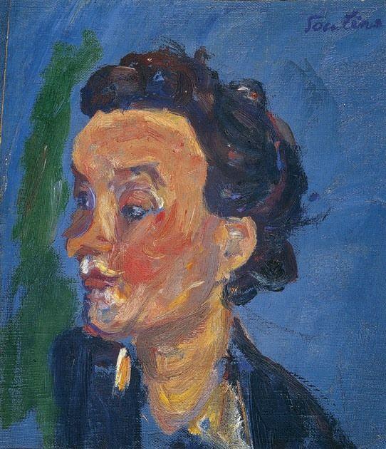 Chaïm Soutine - La jeune Anglaise en bleu, c. 1937. #arte
