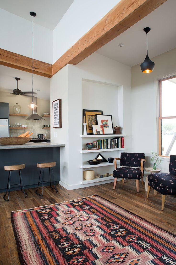 kitchen counter / wood beam