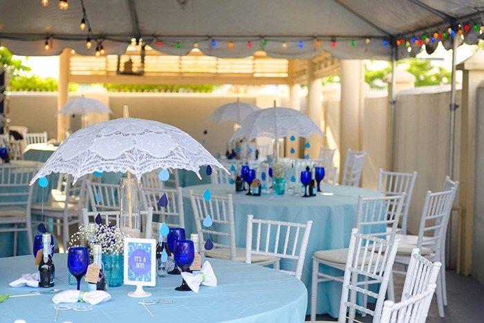 Baby Shower Decor Baby Shower Centerpiece White Umbrella