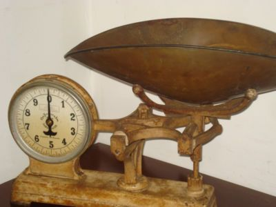 Antiques for Sale On eBay | Antique Wrought Iron Candy Store Scale Chas. Forschner & Sons New ...