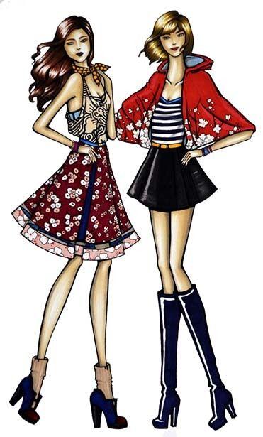 Fashion Drawings by Laura De la Hoz, via Behance