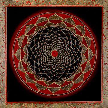 Tibetan Thangka Painting. Cosmos Mandala @ traditionalartofnepal.com