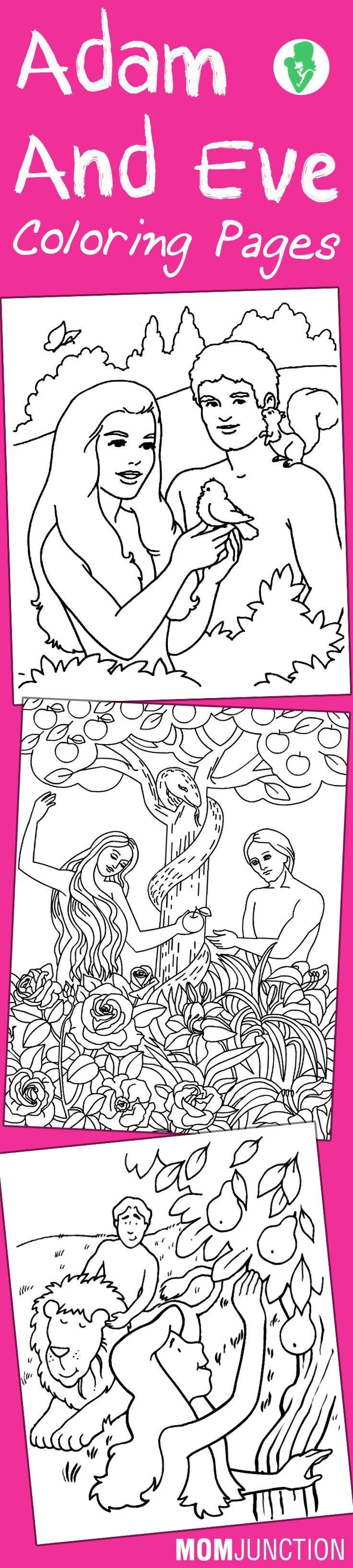 10 Best Adam And Eve Coloring Pages For Your Toddler