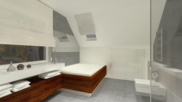 pokój kąpielowy z dużą dwuosobową wanną