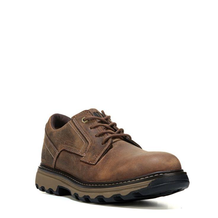 Caterpillar Men's Tyndall Medium/Wide Slip Resistant Work Shoes (Brown Leather) - 13.0 W