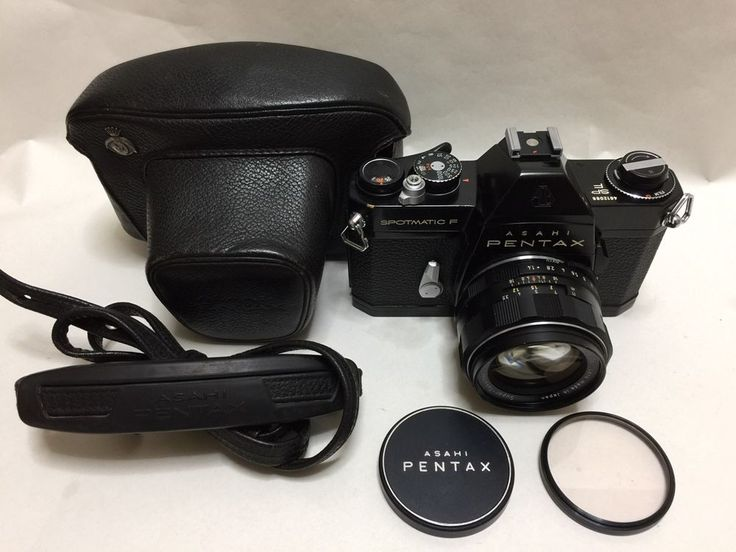 EXC+++++Pentax Spotmatic F Black  w/SMC takumar 50mm f/1.4 Lens  From Japan #54 #PENTAX