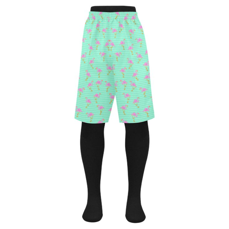Pink and Green Flamingo Pattern Men