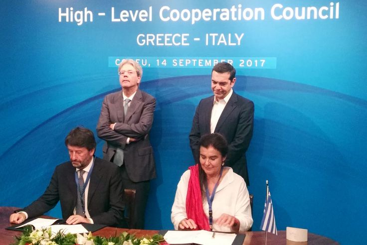 Greece and Italy Sign Memorandum of Cooperation on Culture.
