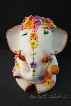Indian inspired elephant bollywood cake topper fondant | by Everett Edibles