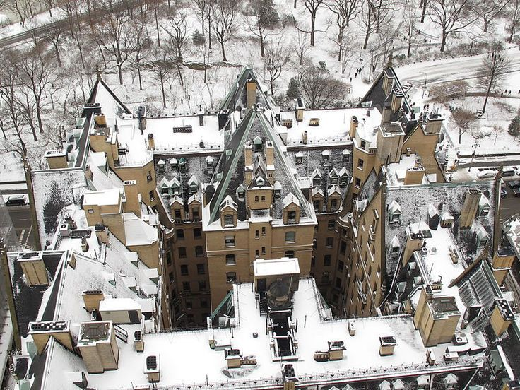 "THE DAKOTA (""The Bramford"")— AND CENTRAL PARK— DUSTED WITH SNOW"