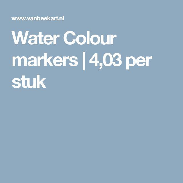Water Colour markers   4,03 per stuk