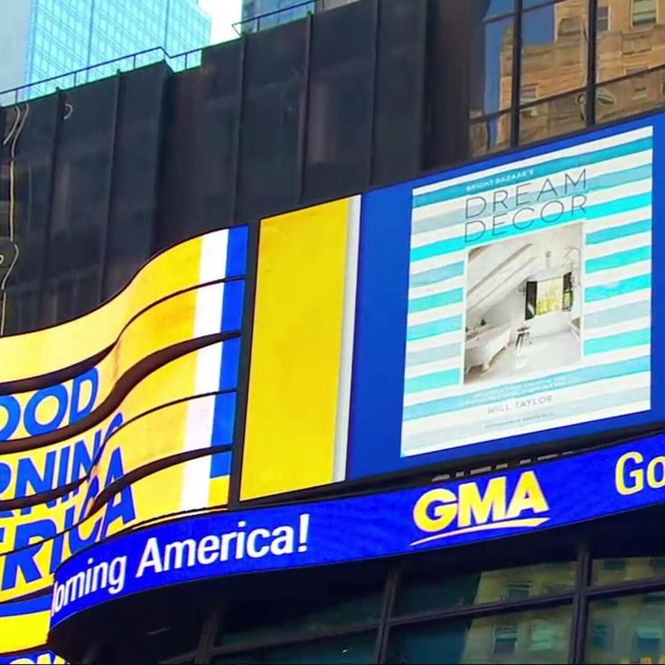 www.littlerugshop.com Ohhhh myyyy goodnessssss! Not only was my design makeover on @goodmorningamerica just now but they revealed my new book cover for Bright.Bazaars Dream Decor on a huge screen in Times Square LIVE to millions of people across America!  Feel like I am dreaming right now! Follow the link in my profile to watch the segment! Thank you @richpedinepr! #MakeYouSmileStyle #BBdreamdecor by brightbazaar