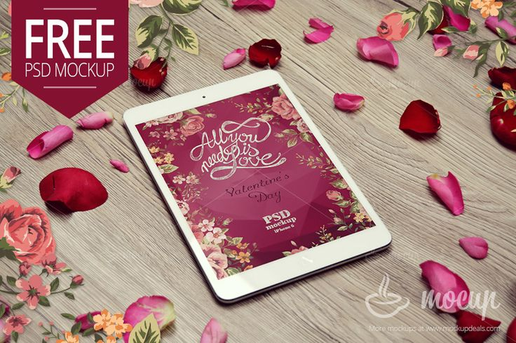 Free iPad Mini Mockup Valentine - Mocup | PSD Mockups, Stock Photos and Videos