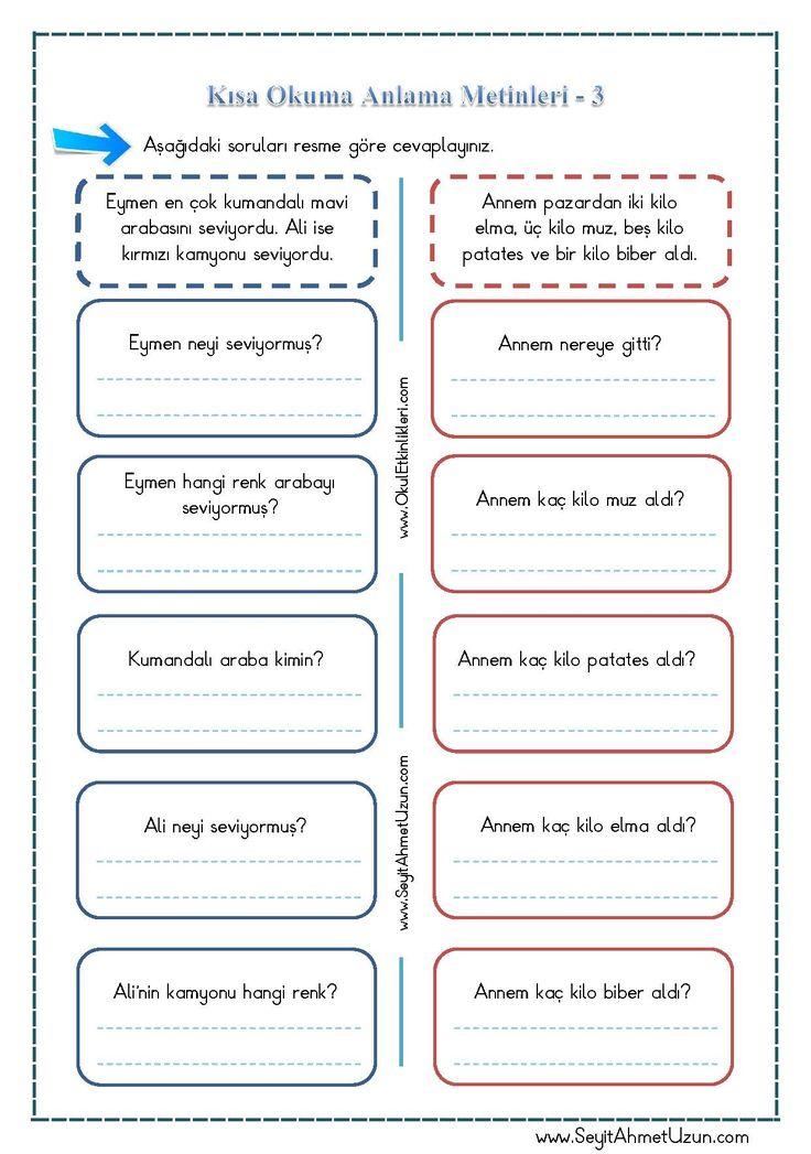 Kısa Okuma Anlama Metinleri – 3 pdf formatında özgün bir çalışma olarak hazırlanmıştır. Aşağıda bulunan linkten kolayca indirebilirsiniz. Tüm çalışmalarımızı kendi emeklerimizle özgün olarak hazırlıyoruz..