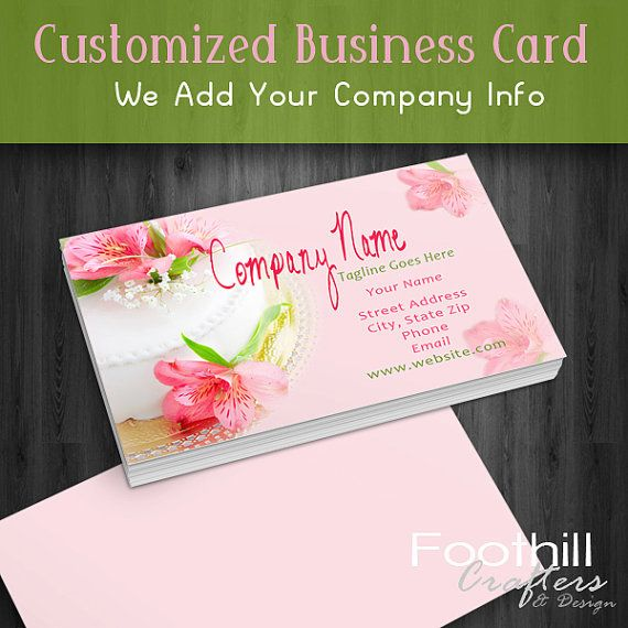 15 best business cards images on pinterest branding companies premade business card design wedding cake bakery party planner professional branding reheart Choice Image