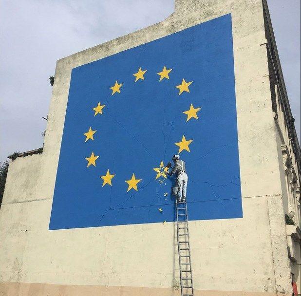 Бэнкси. Brexit граффити г. Дувр (май 2017). Стрит-арт. Биография, работы: http://contemporary-artists.ru/Banksy.html