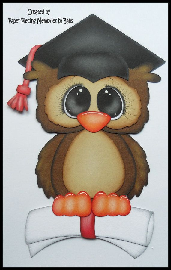 Graduate Owl Premade Paper Piecing by PaperPiecingBabs on Etsy