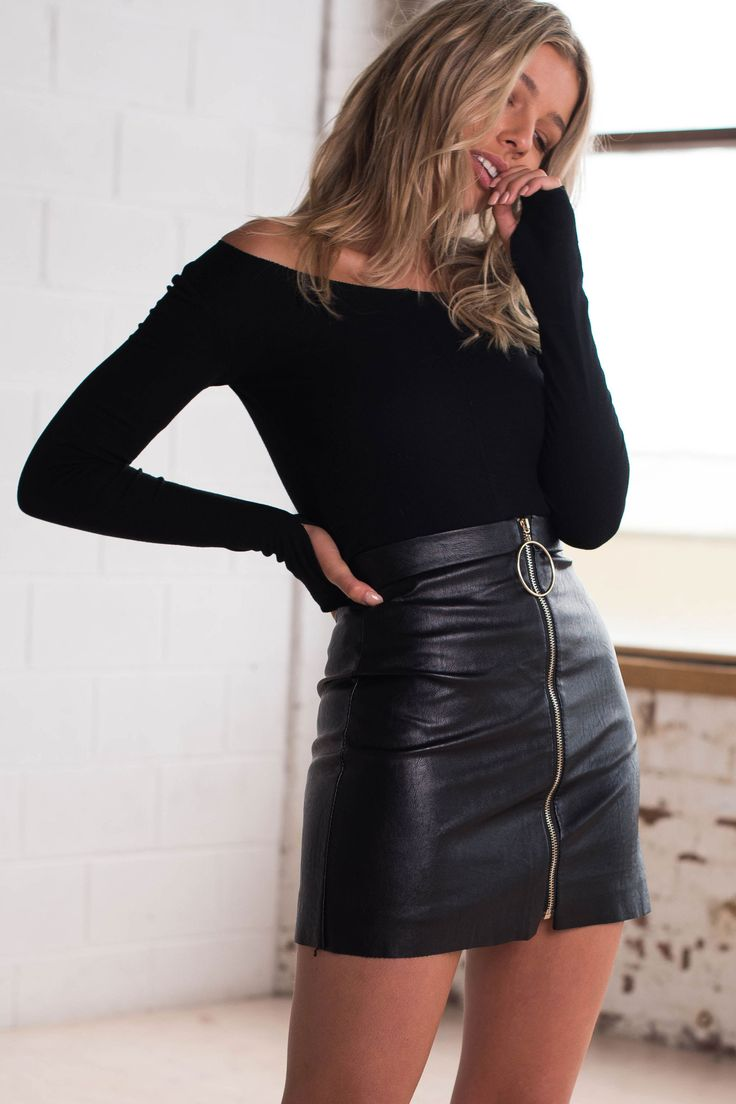 Stone Fox Skirt | Black - Women's Clothing & Fashion Online – Style Addict