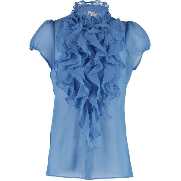 Saint Tropez Blouse infinity ❤ liked on Polyvore featuring tops, blouses, shirts, infinity shirt, blue shirt, saint tropez, blue blouse and shirt blouse