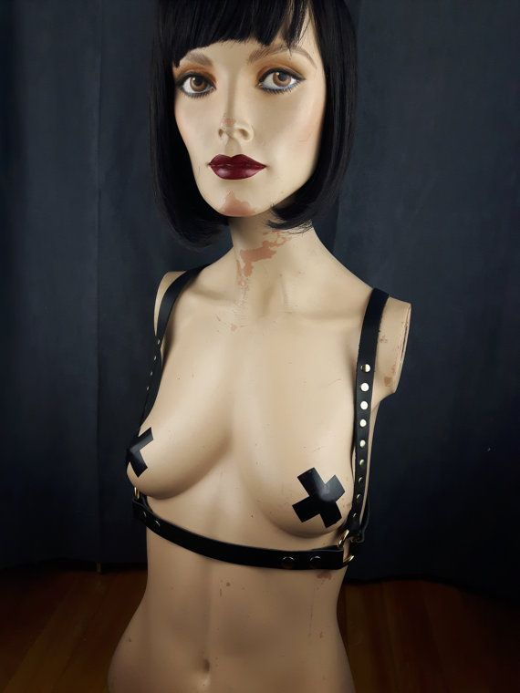 Harness Leather / Body Harness / Underbust by StarCreationsCa