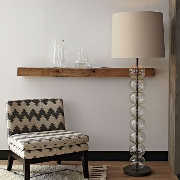 "Abacus Floor Lamp - Glass #westelm Overall product dimensions: 22""diam. x 65.75""h. Base: 12""diam. x 51.75""h. Shade: 22""diam. x 17.5""h. Cord length: 150"". Total weight: 24 lbs. Rotary on/off switch. Accommodates a 23W Compact Fluorescent light bulb (CFL) or 100W incandescent bulb (not included). UL listed."