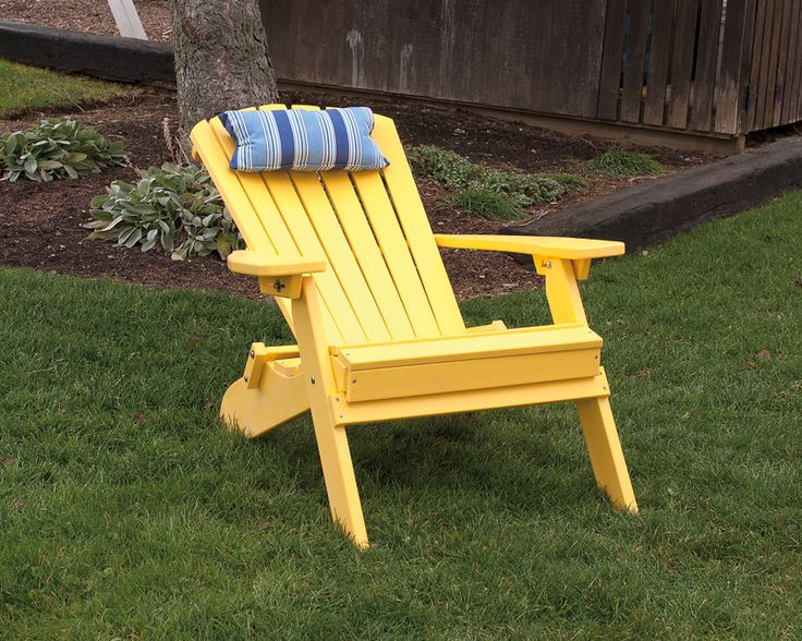 Folding and reclining polywood adirondack chairs amish made in the usa great for the deck - Green resin adirondack chairs ...