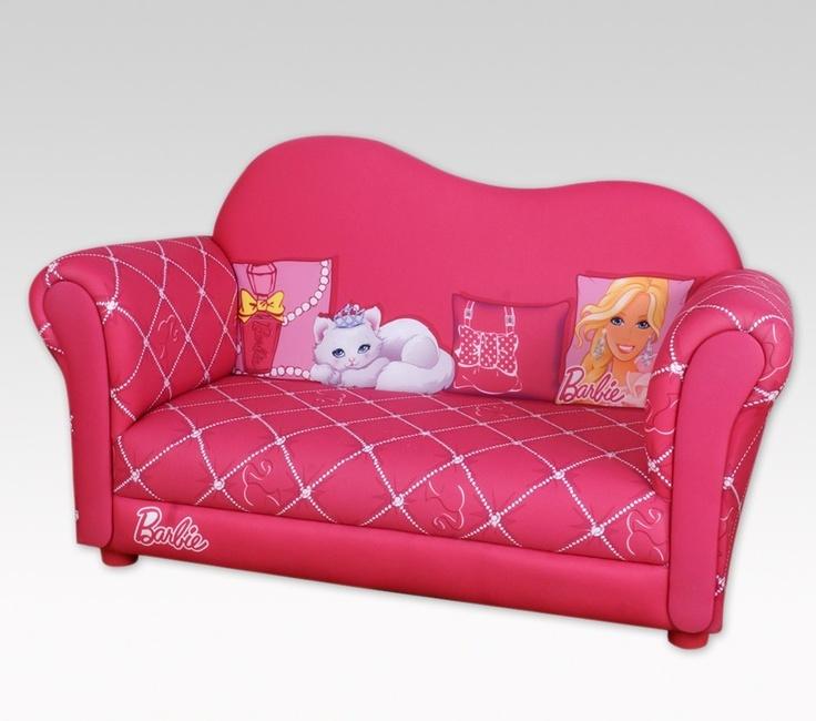 Najarian Nba Youth Bedroom In A Box: BARBIE GLAM SOFA- I LUV BARBIE!!