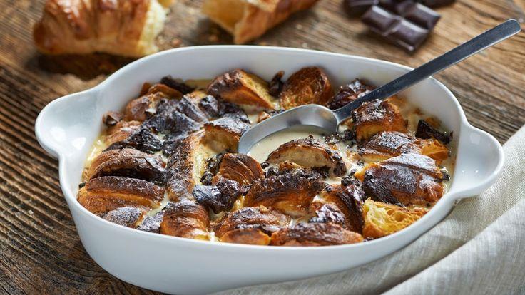 Čokoládový puding s croissanty