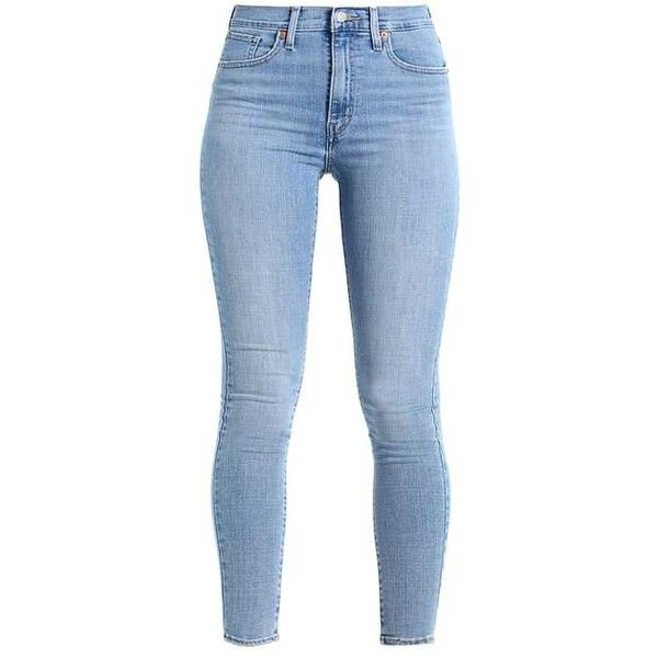 MILE HIGH SUPER SKINNY Jeans Skinny Fit light-blue denim ❤ liked on Polyvore featuring jeans, pants, bottoms, skinny leg jeans, light blue skinny jeans, blue jeans, skinny jeans and super skinny jeans