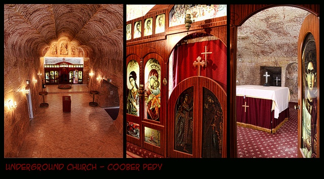 Living in Coober Pedy    The Serbian Orthodox Church in Coober Pedy .