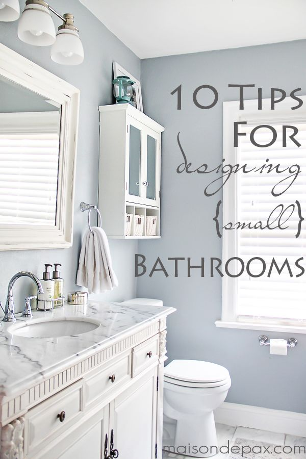 10 tips for designing a small bathroom - Small Bathroom Design Ideas Color Schemes
