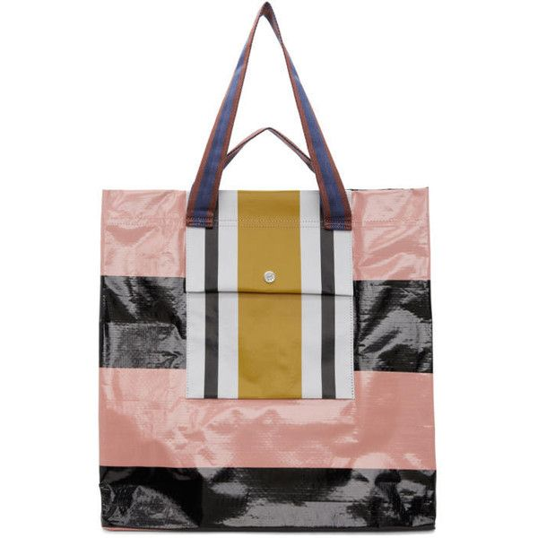 Acne Studios Pink and Black Face Shopper Tote (1.515.070 IDR) ❤ liked on Polyvore featuring bags, handbags, tote bags, pink, pink and black purse, pink tote purse, shopper tote bag, logo tote bags and tote purses
