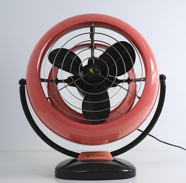 via vintage fans llc vornado in rare desert rose color scheme pink and gray - Vornado Fans