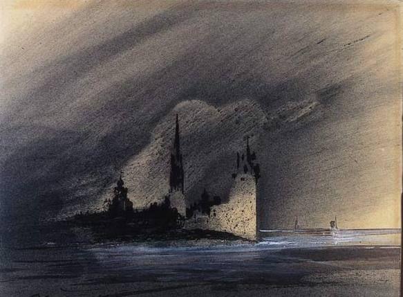 Souvenirs d'Anvers - victor hugo dessins et lavis
