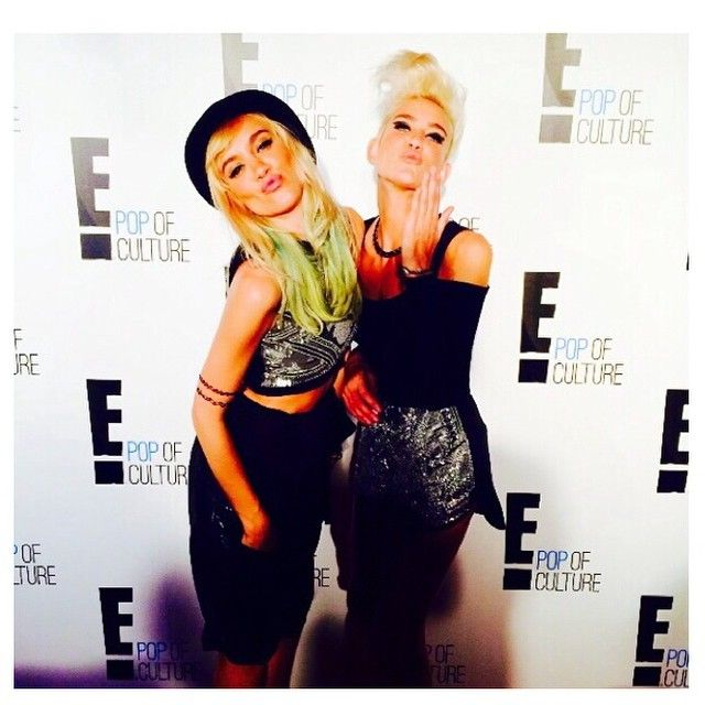 Nervo Twins attend NYFW Enews party wearing MARIAM SEDDIQ